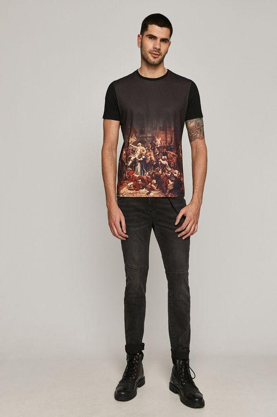 czarny Medicine - T-shirt EVIVA L'ARTE
