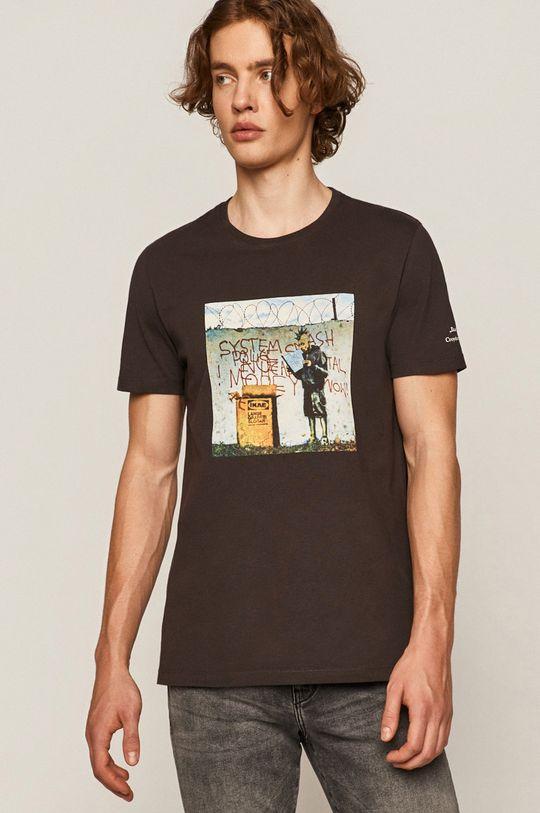 Medicine - T-shirt Banksy's Graffiti szary