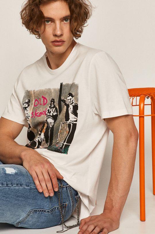 biały Medicine - T-shirt Banksy's Graffiti Męski