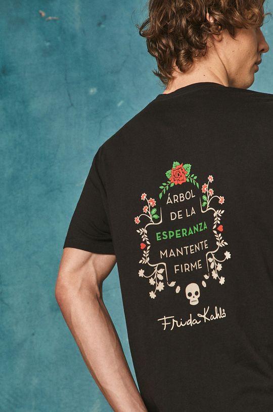 czarny Medicine - T-shirt Frida Kahlo Męski