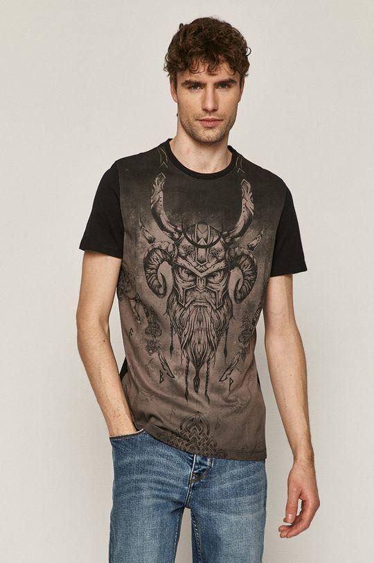 czarny Medicine - T-shirt Casual Elegance Męski
