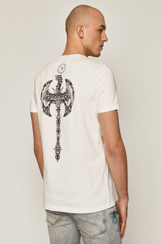 biały Medicine - T-shirt Casual Elegance Męski