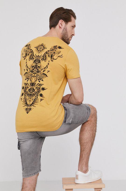 żółty Medicine - T-shirt Indian Spring Męski