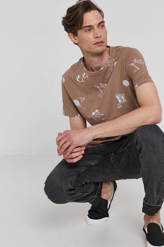 beżowy Medicine - T-shirt Basic Męski