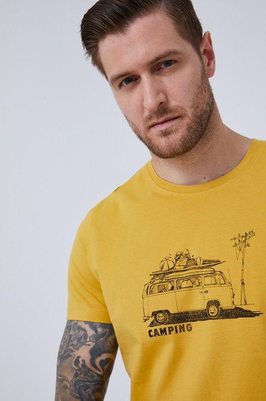 žltá Medicine - Tričko SketchBook Pánsky
