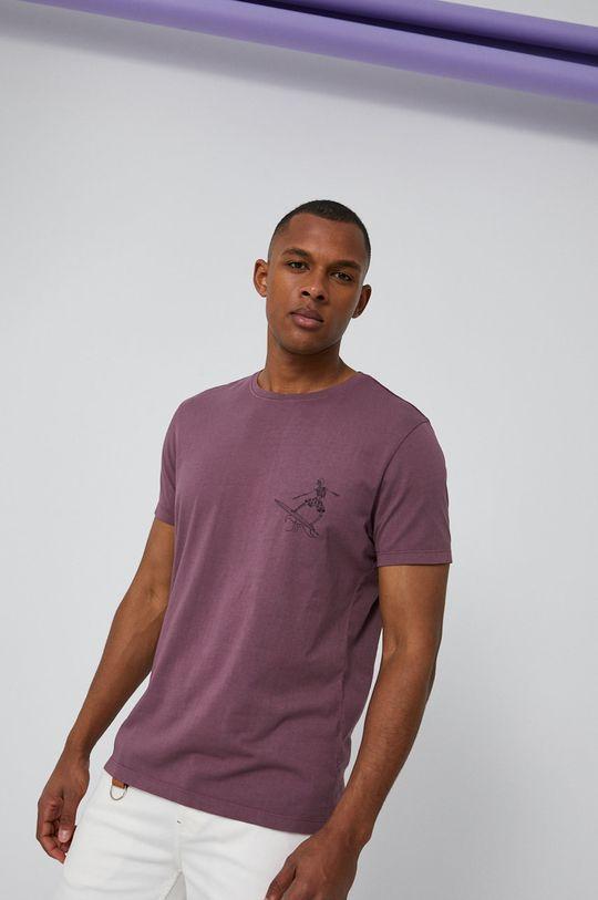 ružovofialová Medicine - Tričko Basic Pánsky