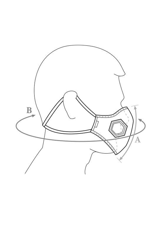 Medicine - Antismogová maska Back to Nature  Hlavní materiál: 100% Polyester