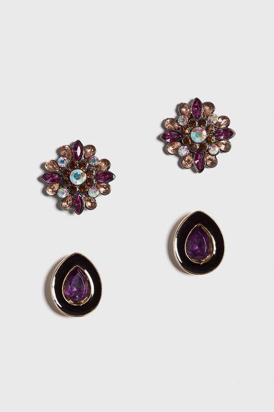 пурпурно Medicine - Обици Vintage Revival Жіночий