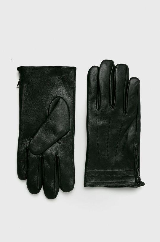 černá Medicine - Kožené rukavice Northern Story Pánský