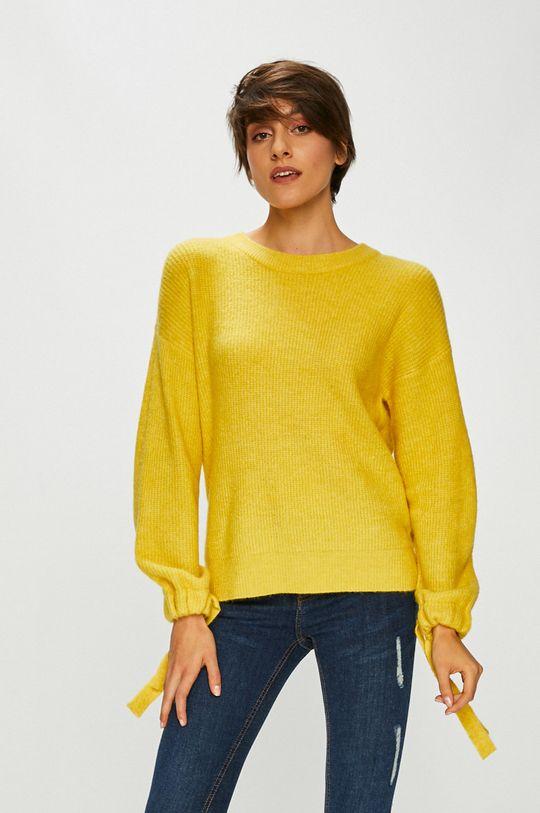 żółty Medicine - Sweter Basic Damski