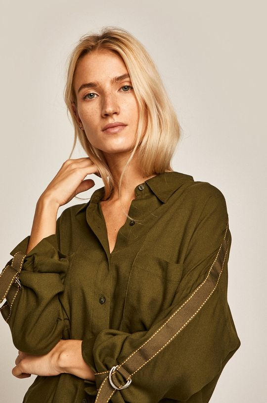 vojenská zelená Medicine - Košeľa Basic