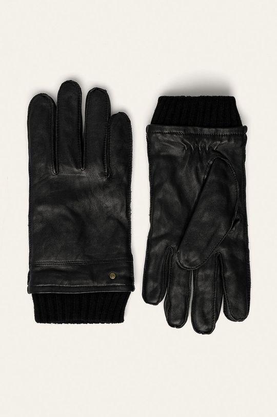 czarny Medicine - Rękawiczki skórzane Amber Ambient Męski
