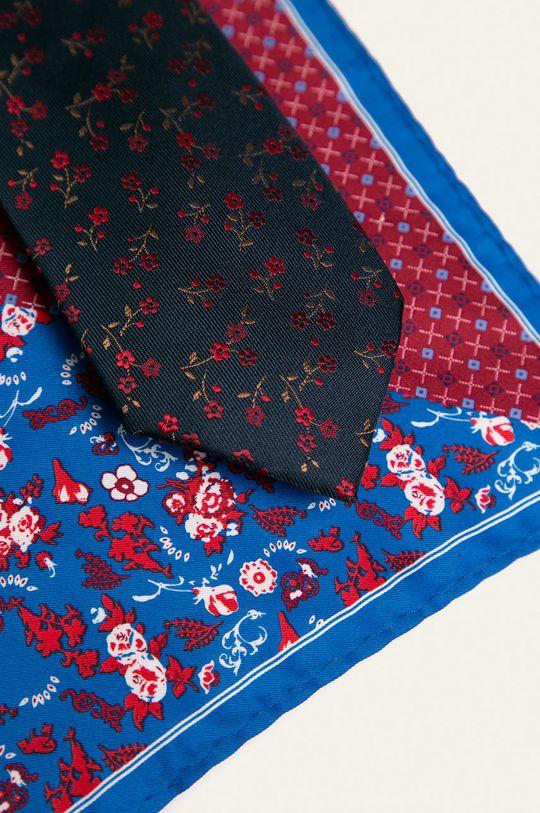 Medicine - Krawat i poszetka Basic granatowy