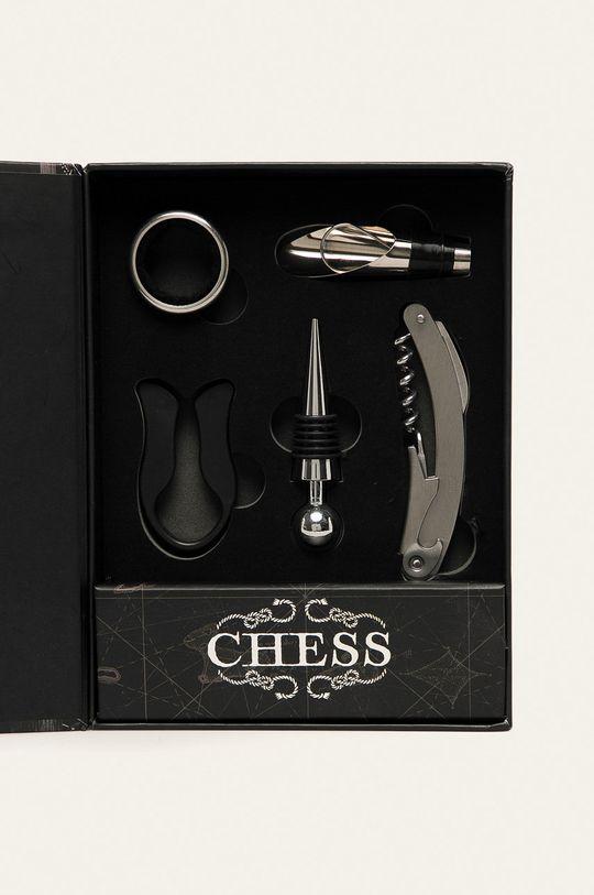 Medicine - Zestaw do wina z szachami Basic czarny