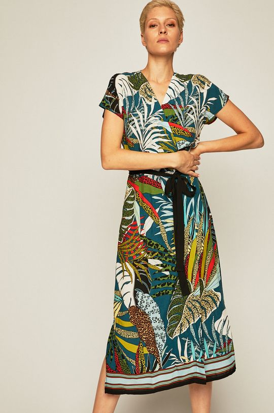 czarny Medicine - Sukienka Tapestry Stripes Damski