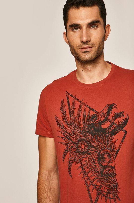 gaštanová Medicine - Pánske tričko Rural Vitality Pánsky