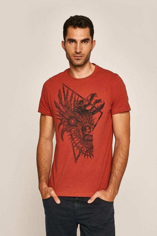 gaštanová Medicine - Pánske tričko Rural Vitality