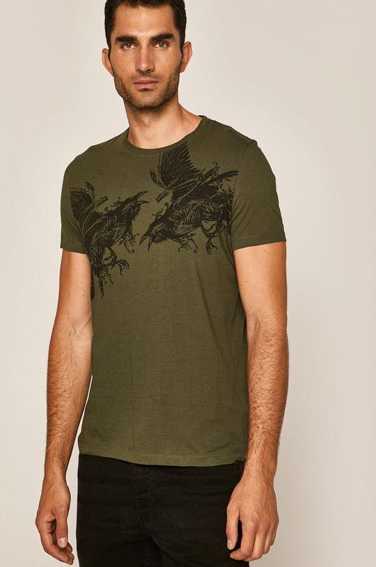 hnedozelená Medicine - Pánske tričko Rural Vitality Pánsky