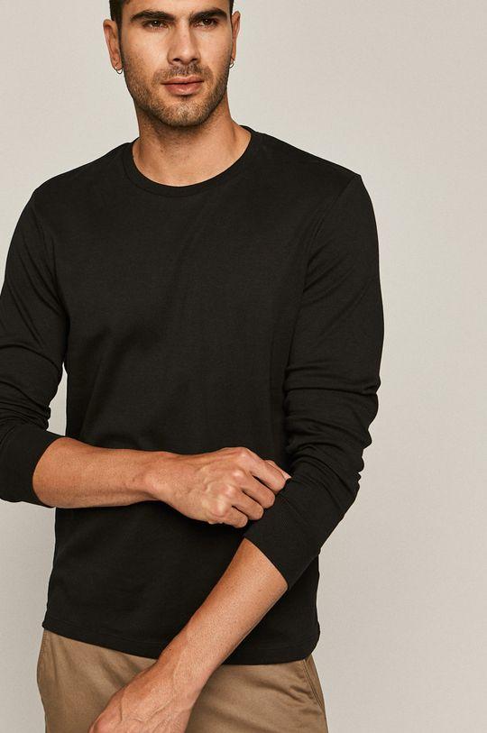 čierna Medicine - Tričko s dlhým rukávom Basic Pánsky