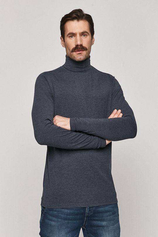 námořnická modř Medicine - Tričko s dlouhým rukávem Basic Pánský