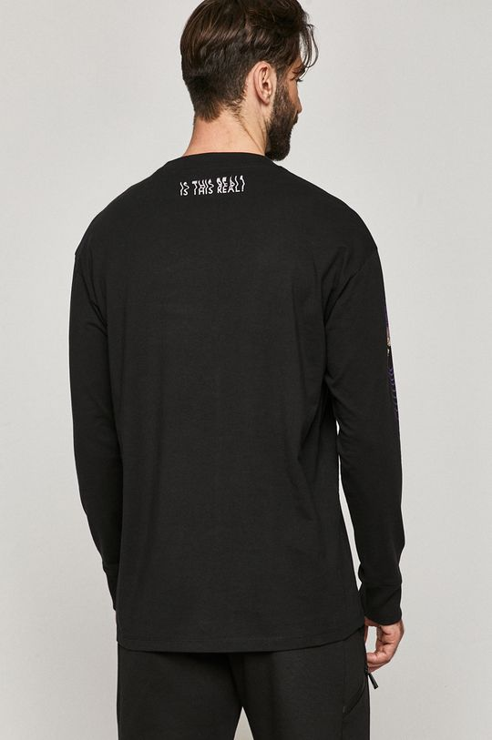 Medicine - Tričko s dlouhým rukávem Lux Black  100% Bavlna