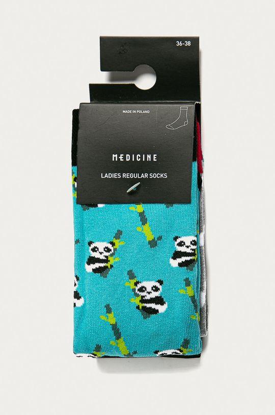 Medicine - Ponožky Animals (2-pak) viacfarebná