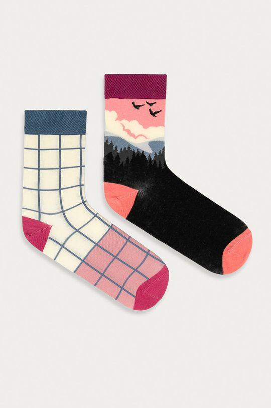 vícebarevná Medicine - Ponožky Floral (2-pack) Dámský