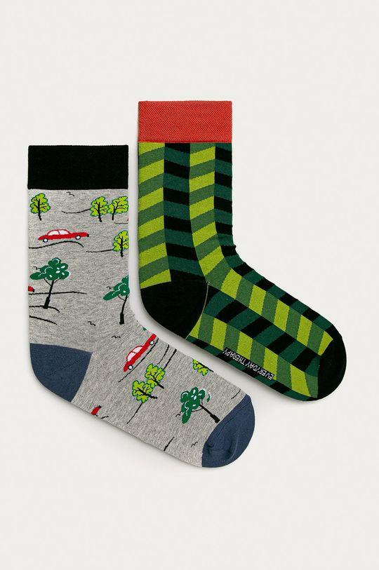 vícebarevná Medicine - Ponožky Funny (2-pak) Pánský