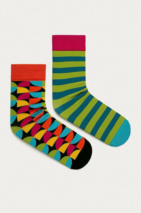 viacfarebná Medicine - Ponožky Geometry (2-pak) Pánsky