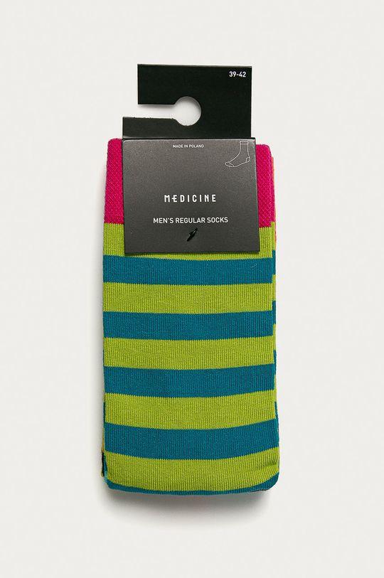 Medicine - Ponožky Geometry (2-pak)  75% Bavlna, 2% Elastan, 23% Polyamid