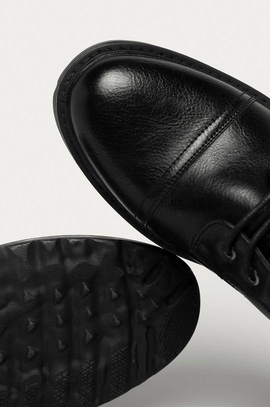 černá Medicine - Kotníkové boty Monochromatic