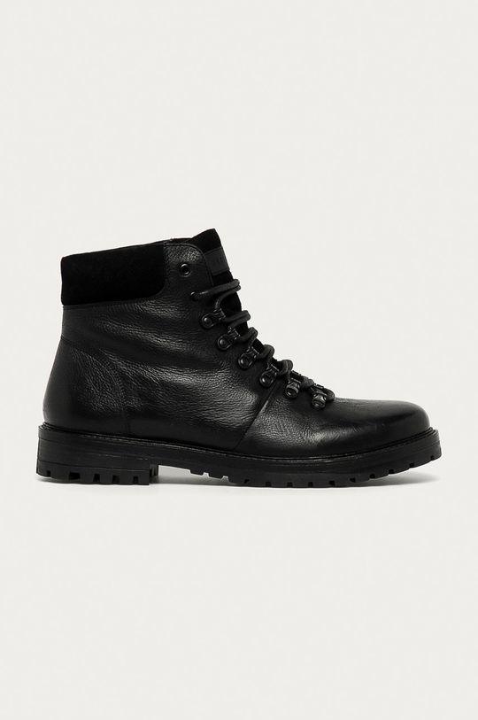černá Medicine - Kožené boty Lux Black Pánský
