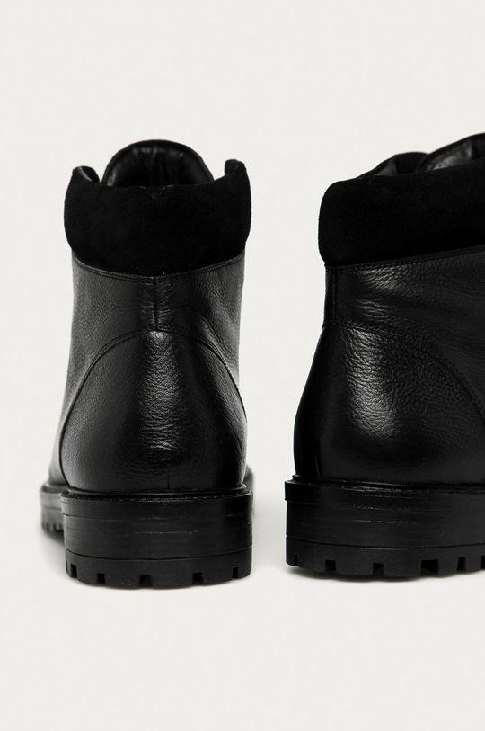 Medicine - Kožené boty Lux Black  Svršek: Přírodní kůže Vnitřek: Textilní materiál, Přírodní kůže Podrážka: Umělá hmota