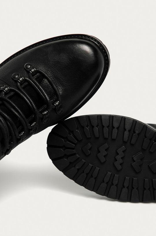 černá Medicine - Kožené boty Lux Black