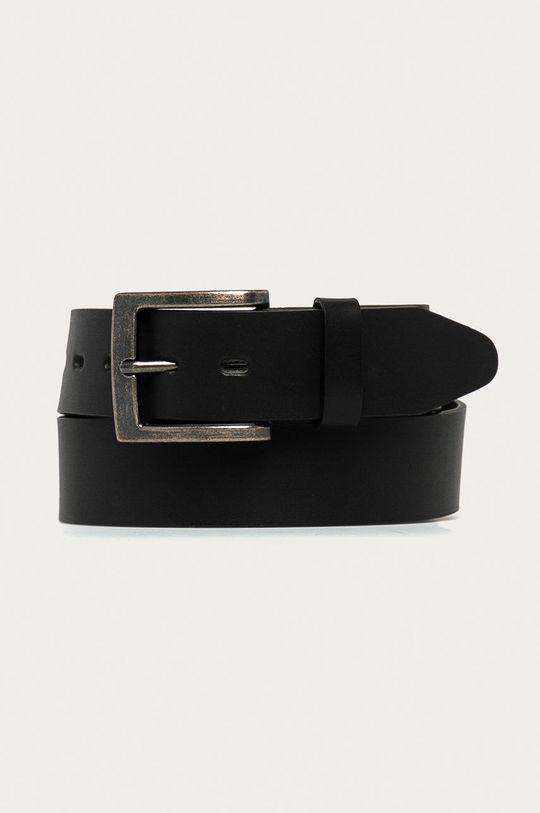 černá Medicine - Kožený pásek Basic Pánský