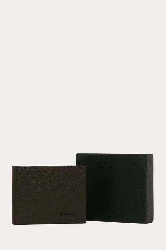 hnedá Medicine - Kožená peňaženka Basic