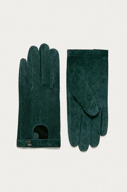 tmavozelená Medicine - Kožené rukavice Basic Dámsky