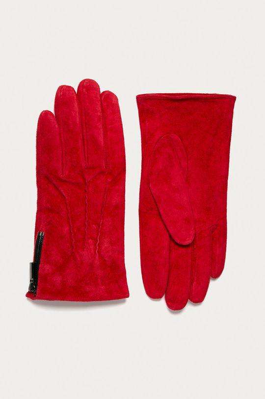 červená Medicine - Kožené rukavice Basic Dámsky