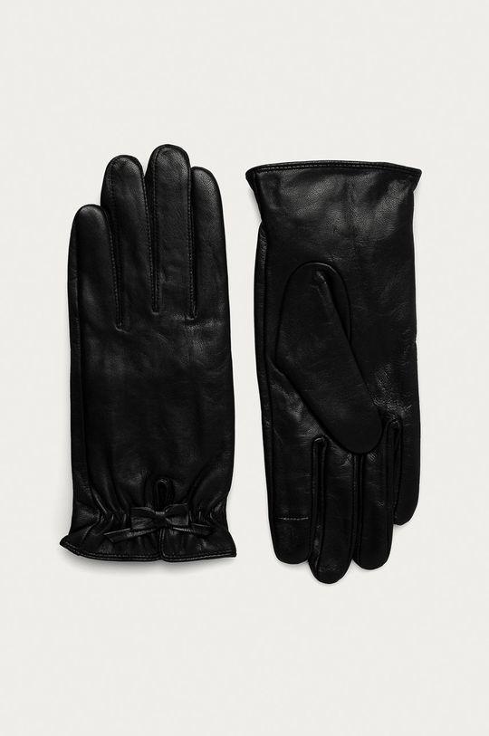 čierna Medicine - Kožené rukavice Basic Dámsky
