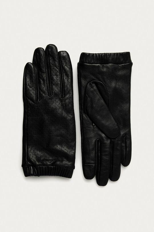 Medicine - Kožené rukavice Basic čierna