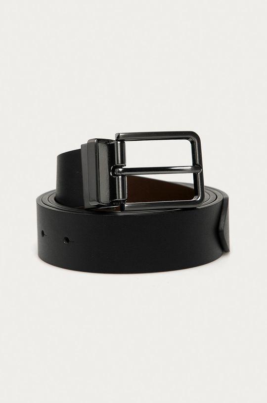 Medicine - Oboustranný kožený pásek Gifts černá