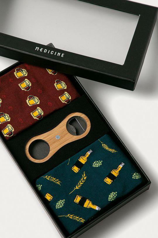 vícebarevná Medicine - Dárková sada: ponožky (2 - pack) a otvírák na lahve Gifts Pánský