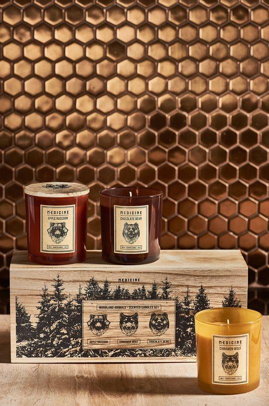 brązowy Medicine - Świece zapachowe Gifts (3-pack) Unisex