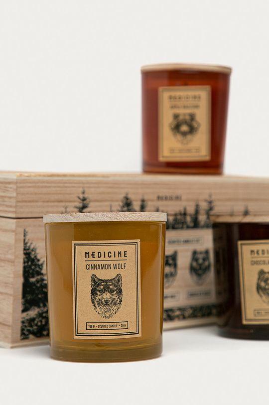 Medicine - Świece zapachowe Gifts (3-pack) brązowy