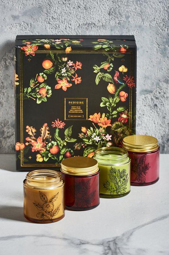 czarny Medicine - Świeca zapachowa Gifts (4-pack) Męski