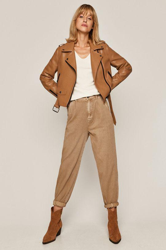 beżowy Medicine - Spodnie Basic Damski