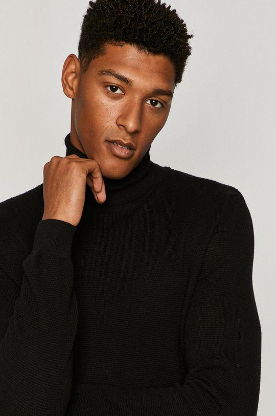 czarny Medicine - Sweter Basic Męski