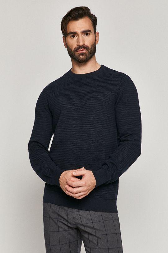 granatowy Medicine - Sweter Basic Męski