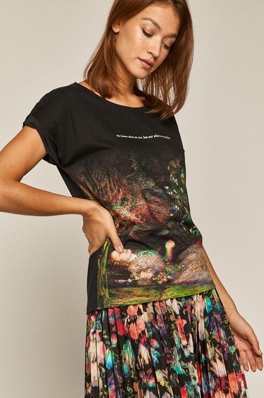 czarny Medicine - T-shirt Glitch Damski