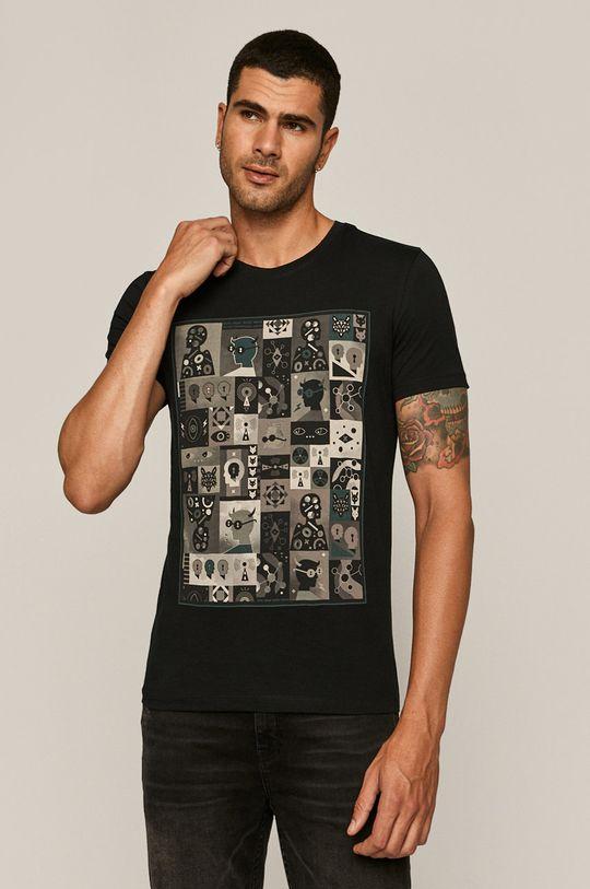 negru Medicine - Tricou Retro On De bărbați